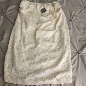 Ivory Lace Fitted Maternity Skirt
